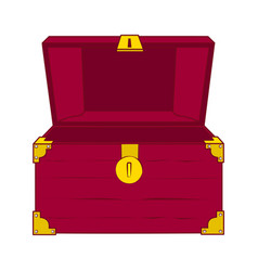 open empty treasure chest vector image
