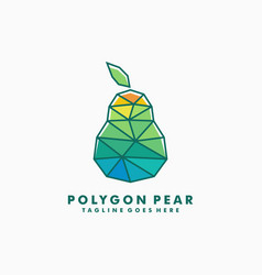 polygon pear concept designs template vector image