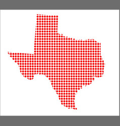 red dot map of texas vector image