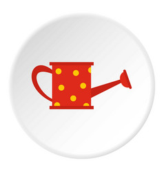 Red watering can icon circle vector