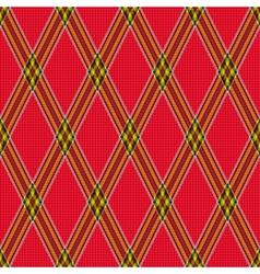 Rhombic tartan red fabric seamless texture vector