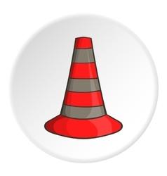 Safety cones icon cartoon style vector