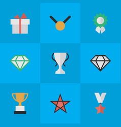 Set simple reward icons vector