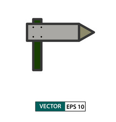signpost icon colour style eps 10 vector image