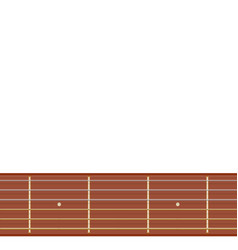 straight guitar fretboard vector image