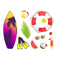 Summer elements collection vector