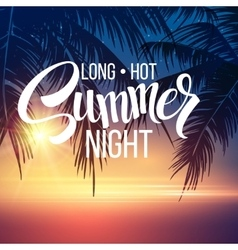 summer night palm trees in night vector image