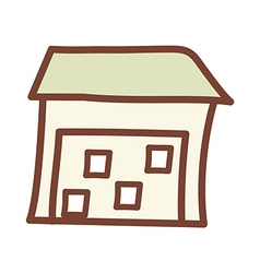 The house vector