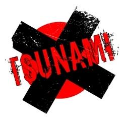 Tsunami rubber stamp vector
