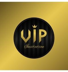 Vip invitation card vector image