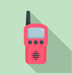 walkie talkie toy icon flat style vector image