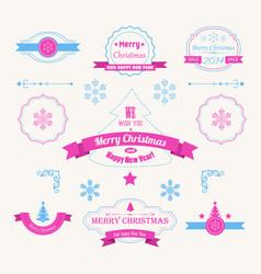 winter holidays greeting labels set vector image