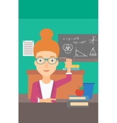 Woman raising her hand vector