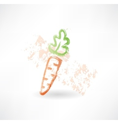 Carrot grunge icon vector image vector image