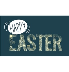 Easter inscription Linear style vector image