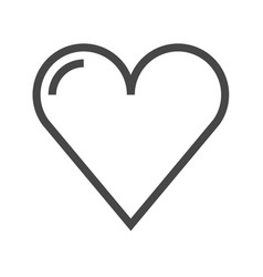 heart thin line icon vector image vector image
