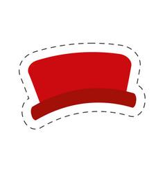 Red hat snowman cut line vector