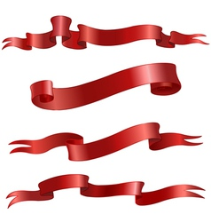 red scrolls vector image vector image