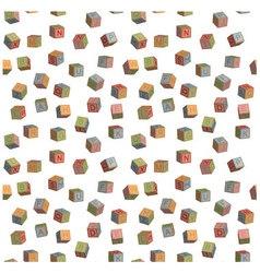 Seamless pattern toy blocks alphabet vector
