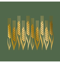 wheat in Art Nouveau style vector image