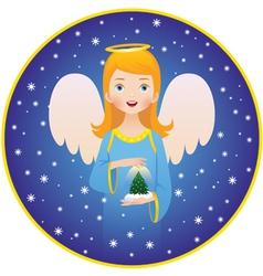 Angel Christmas holidays vector image