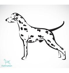 dog Dalmatian vector image