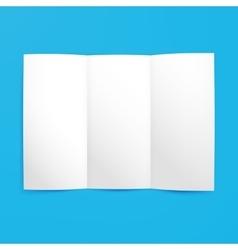 Empty Tri Fold Paper Mockup vector image vector image