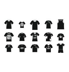 tshirt icon set simple style vector image