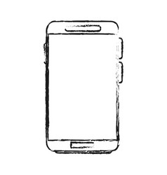 blurred silhouette image smartphone tech device vector image