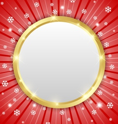 Christmas winter plaque vector image vector image