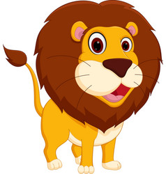 cute lion cartoon standing vector image vector image