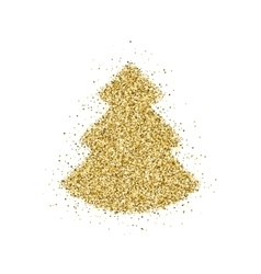 Gold glitter Christmas tree vector image vector image
