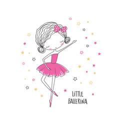 little ballerina vector image