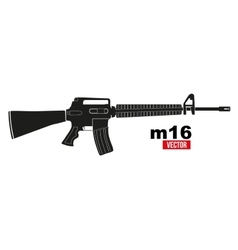 M16 rifle vector image vector image