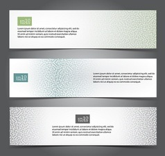 Maze web banners vector image vector image