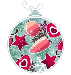 Christmas ball made of snowflakes vector image vector image