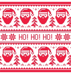 Christmas seamless red pattern with Santa vector image vector image