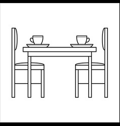 table and chairs in dinning vector image