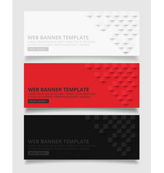 white red and black square geometric texture vector image vector image