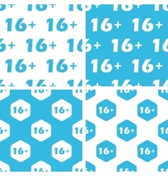 16 plus patterns set vector image vector image