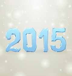 2015 Ice New Year gray background vector