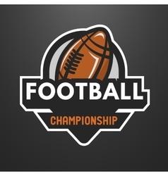 American football sports logo emblem vector