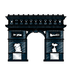 Arch of triumph paris vector