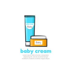 baby cream logo design template vector image