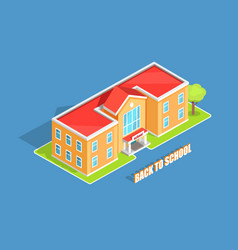 back to school 3d isolated on blue vector image