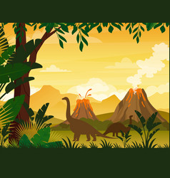 beautiful prehistoric vector image