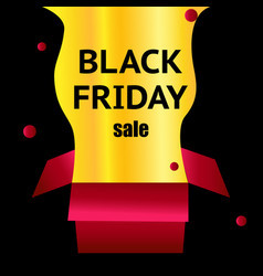 black friday red box on a light black background vector image