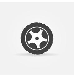 Black wheel icon or logo vector