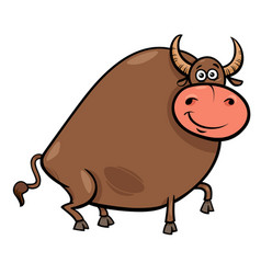 Bull farm animal character cartoon vector