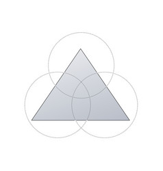 business concept design with triangle and 3 vector image